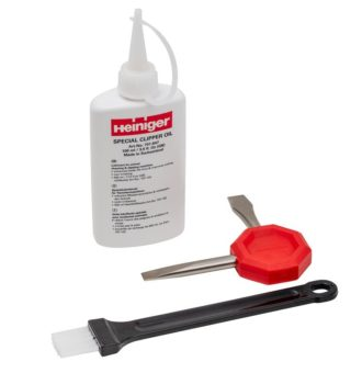 Olje, izvijač, krtača za električne škarje Heiniger